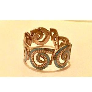 Margot de Taxco (signed) Mosaics Bracelet.